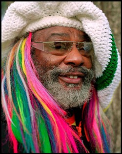 RAINBOW BRIGHT: George Clinton has been tearing the roof off for 50 years.