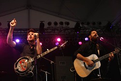 JEFF HAHNE - READY FOR 'ROO: The Avett Brothers at Bonnaroo in 2007.