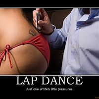 Real lap dances, fake money