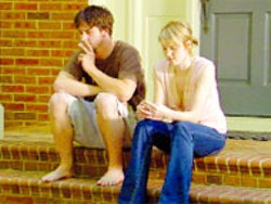 GEORGE COLE - REALITY BITES Justin Rivenbark and Lauren - Schneider contemplate the future in The Rest - of Your Life. Schneider can also be seen in a - leading role in Among Brothers