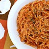Recipe: Creamy Goat Cheese and Red Pepper Sauce with Chicken & Linguini