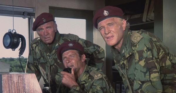 Richard Burton, Roger Moore and Richard Harris in The Wild Geese (Photo: Severin)