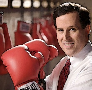 Rick Santorum, fighting for your right to do what he thinks you should do.