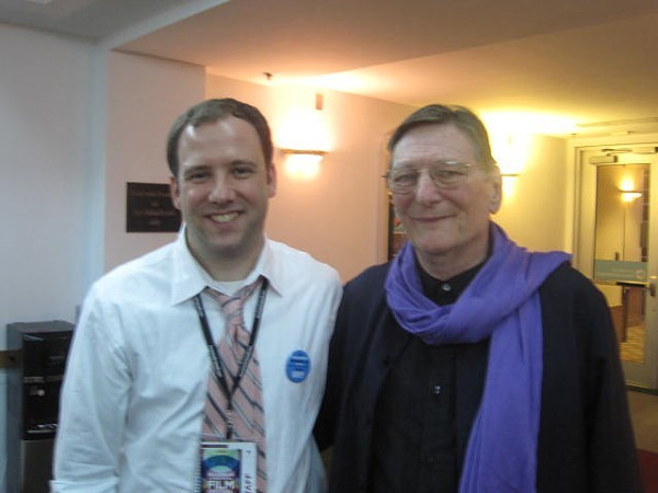 Mr. Schepisi (right) with RiverRun Executive Director Andrew Rodgers