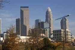 ANGUS LAMOND - ROBUST: In 2007, when this photo was taken, Charlotte's prospering economy merited national attention. Now, not so much.