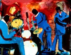 """Romare Bearden's """"Saxophone Improvisation"""" (1986)"""