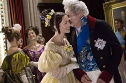 APPARITION - ROYAL GOSSIP: Emily Blunt and Jim Broadbent in The Young Victoria.