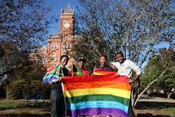JEFF HAHNE - S.A.F.E. Pride members (left to right) Dajha Chaplin, Jacorya Parker, Victoria Ogundipe and Warren Radebe