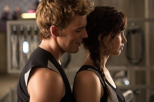 Sam Claflin and Jennifer Lawrence. (Photo: Lionsgate)