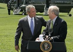 WHITEHOUSE.GOV - SAY BYE BYE: Bush and his brain