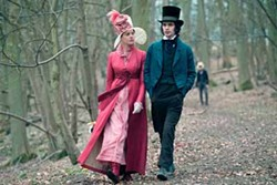 APPARITION - 'SCENERY IS FINE -- BUT HUMAN NATURE IS FINER': Fanny Brawne (Abbie Cornish) and John Keats (Ben Whishaw) continue to get acquainted during a leisurely stroll in Bright Star.