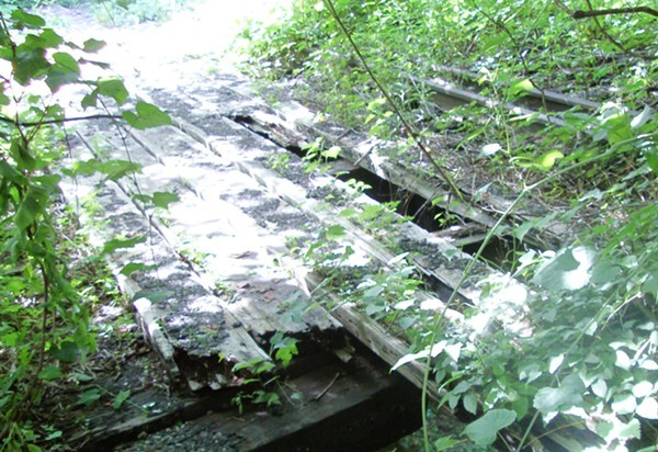 Scenes from Frazier Park: A forgotten trolley bridge...
