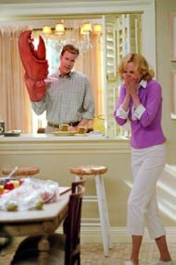 COLUMBIA - SCHLOCK LOBSTER Nicole Kidman reacts in horror to Will - Ferrell's overacting in Bewitched