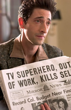 GEORGE KRAYCHYK / FOCUS FEATURES - SCOOP Private eye Louis Simo (Adrien Brody) follows the paper trail in Hollywoodland.