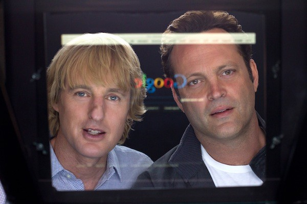 SCREEN SAVERS: Nick (Owen Wilson) and Billy (Vince Vaughn) try to survive in the digital age in The Internship. (Photo: Fox)