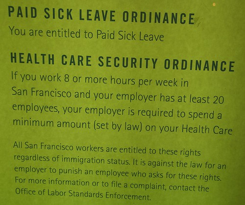 See, other places have sick leave.