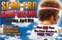Time to bust out the fake hair for Semi-Fro Semi-Crawl