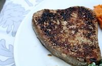 Recipe: Sesame Tuna + Sesame Nappa Cabbage Slaw