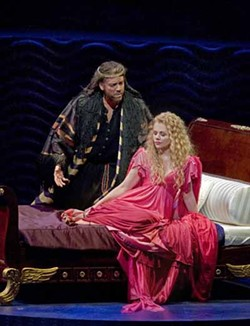 KEN HOWARD / METROPOLITAN OPERA - SEX AND RELIGION: Renee Fleming and Thomas Hampson in Thais
