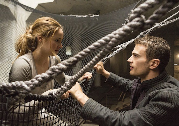 Shailene Woodley and Theo James in Divergent. (Photo: Summit)