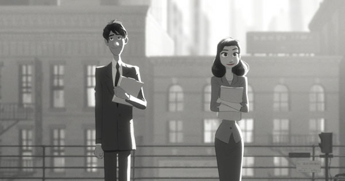 SHORT AND SWEET: Paperman landed a deserved nomination for Best Animated Short. (Disney)