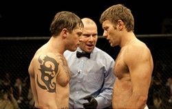 CHUCK ZLOTNICK / LIONSGATE - SIBLING RIVALRY: Tom Hardy and Joel Edgerton in Warrior
