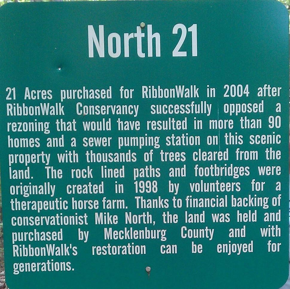 Sign at RibbonWalk Nature Preserve