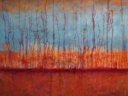 SKYLINE: Painting included in Stephen Kasun exhibit at Chasen Galleries.