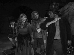 BOB TULLY - SLAP HAPPY: Will Branner, Kathryn Stamas, Mike Collins and Patrick Ratchford in the musical Oliver!