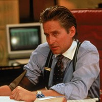 SLICK: Michael Douglas won the Best Actor Oscar for his performance in Wall Street.
