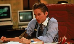 FOX - SLICK: Michael Douglas won the Best Actor Oscar for his performance in Wall Street.