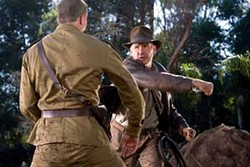 DAVID JAMES / PARAMOUNT & LUCASFILM LTD. - SOCK IT TO HIM: Indy (Harrison Ford) deals with the Red Menace in Indiana Jones and the Kingdom of the Crystal Skull.