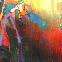 SONG OF THE SANTEE Painting included in Brian Rutenberg exhibit at Jerald Melberg Gallery