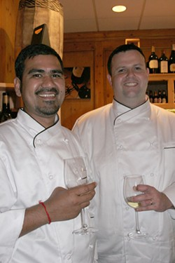 CATALINA KULCZAR - South African chefs Chiran Singh (left) and Neil Olverman