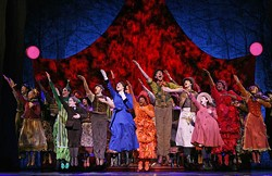 JOAN MARCUS - SPELL THAT AGAIN: The Original National Tour Company of Mary Poppins perform 'Supercalifragilisticexpialidocious.'