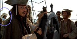 BUENA VISTA - SPRINGING LEAKS Seafaring sagas like Pirates of - the Caribbean (pictured) and Titanic - contain an astonishing number of humorous errors, as - seen in this screenshot