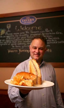 CATALINA KULCZAR-MARIN - STANDING OUT: Owner Brian Snediker with the exceptional Cuban sandwich.