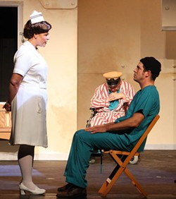 CHRIS TIMMONS - STANDOFF: Nurse Ratched (Donna Scott) and Randle P. McMurphy (J.R. Adduci) rarely see eye to eye in One Flew Over the Cuckoo's Nest.