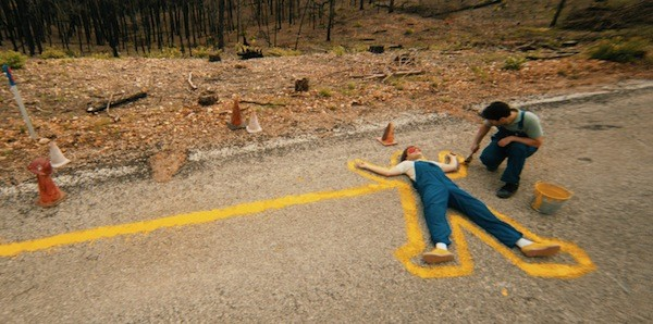 STAY INSIDE THE LINES: Emile Hirsch (left) and Paul Rudd in Prince Avalanche. (Photo: Magnolia Pictures)