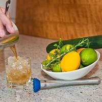 Stefan Huebner of Heist Brewery uses fresh ingredients to make summer cocktails.