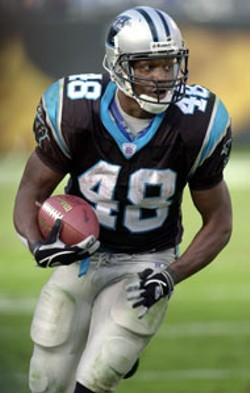 CAROLINA PANTHERS - Stephen Davis and the Carolina Panthers host the - New York Giants in an exhibition game, Thursday at - Bank of America stadium