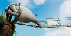 BLUE SKY STUDIOS & FOX - STEPPING OUT: Horton attempts to cross a flimsy bridge in Dr. Seuss' Horton Hears a Who!
