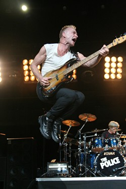 Sting gets some hangtime. (The Police, Charlotte Bobcats Arena, Nov. 15)