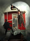 <p>STRANGERS ON A TRAIN: (L-R) Greg McGrath, Rory Dunn, Dave Blamy and Maret Decker Seitz in <i>The 39 Steps</i></p>