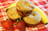 Recipe: Strawberry and Banana Muffins