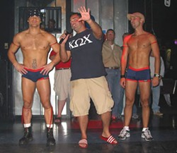 Struttin' their stuff at the gay frat party