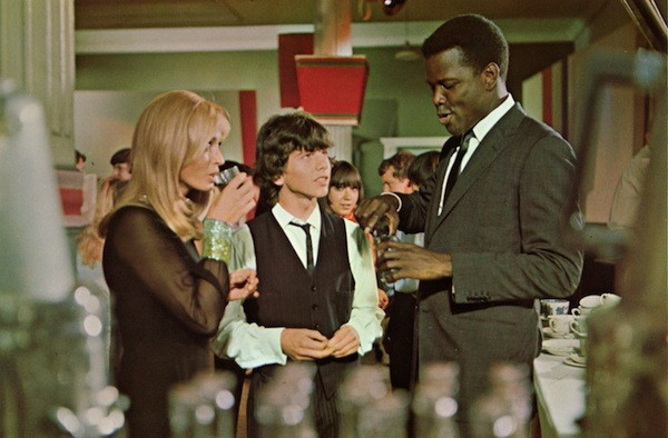 Suzy Kendall and Sidney Poitier in To Sir, with Love (Photo: Twilight Time)