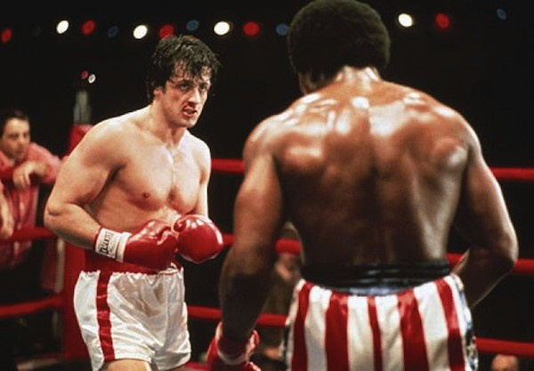 Sylvester Stallone and Carl Weathers in Rocky (Photo: MGM & Fox)