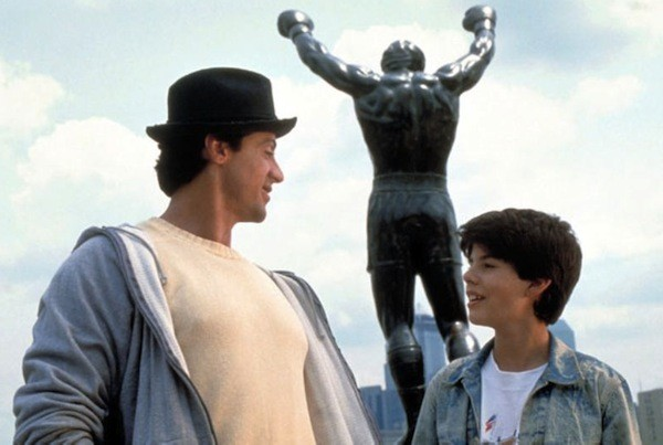 Sylvester Stallone and Sage Stallone in Rocky V (Photo: MGM & Fox)