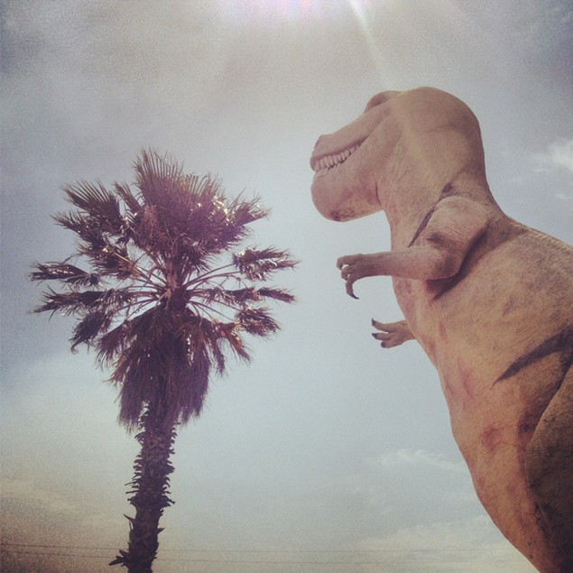 T-Rex channels his Hollywood side near Palm Springs, Calif.